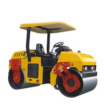 China construction machinery 3 ton double drum vibratory road roller