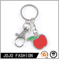 Little Apple Charms kering/Red apple charms pendant keychain wholesale