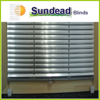 25mm cordless Aluminum venetian blinds office curtains and blinds mini blinds for windows