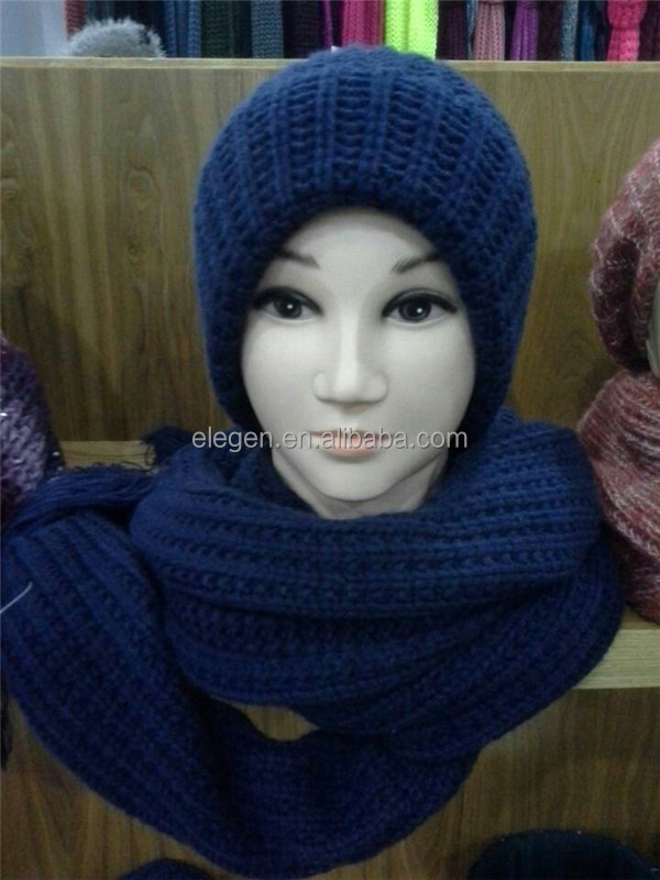 Acrylic Knitted Hat and Scarf sets