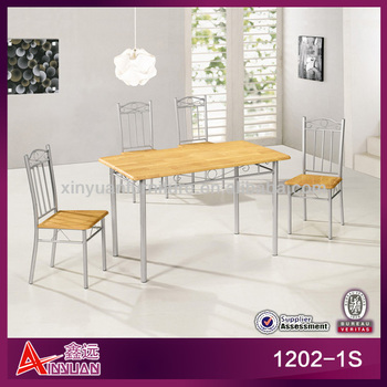 1202-1S Classic metal 4 seater dining table designs