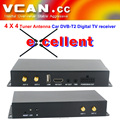 Car dvb-t2 digital receiver box 4 x 4 Tuner Diversity Antenna DVB-T240