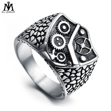 316 L Stainless Steel Mechanical Gear Vintage Punk Style Jewelry Ring