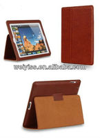 100% Premium Executive Genuine Leather Folio Case (Coffee) with Built-in Stand for iPad4/3/2
