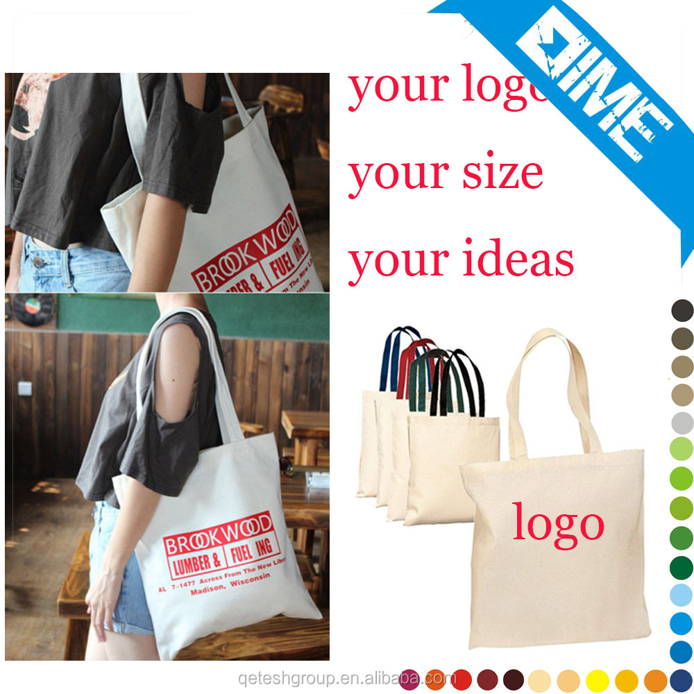 Fashion Design White Eco Cotton Bag