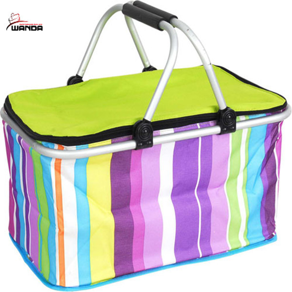 Insulated collapsible cooler basket/beach basket/insulated picnic basket