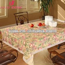 Oriental style printing cheap tablecloths with golden / silver dots