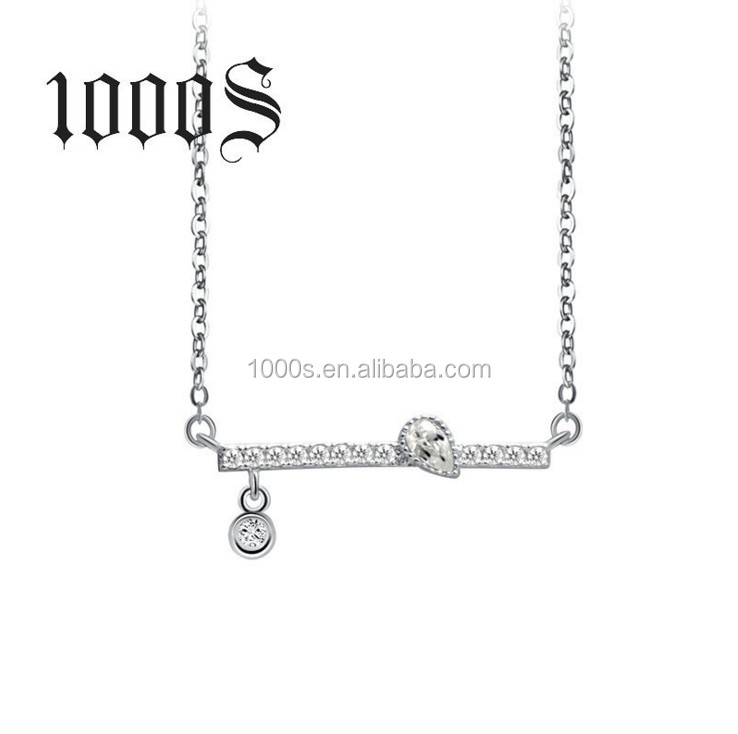 Elegant 925 Sterling Silver Balance Necklace with Dangle Charm