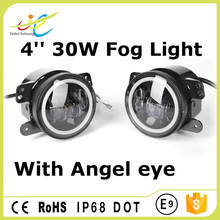 Most popular angel eyes DOT approved 4inch 30W round led fog light