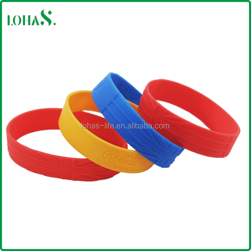 Customized cheap free adjustable silicone wristband silicone rubber wristband
