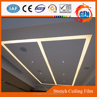 qualified modern home ceiling tiles decoration materials glossy pvc fireproof and soundproof ceiling membrane