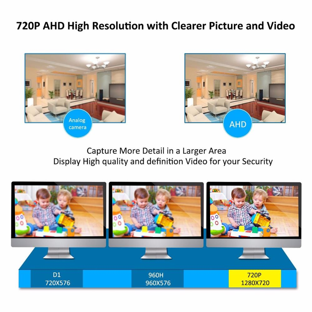 16CH real time CCTV camera H.264 DVR security AHD camera system