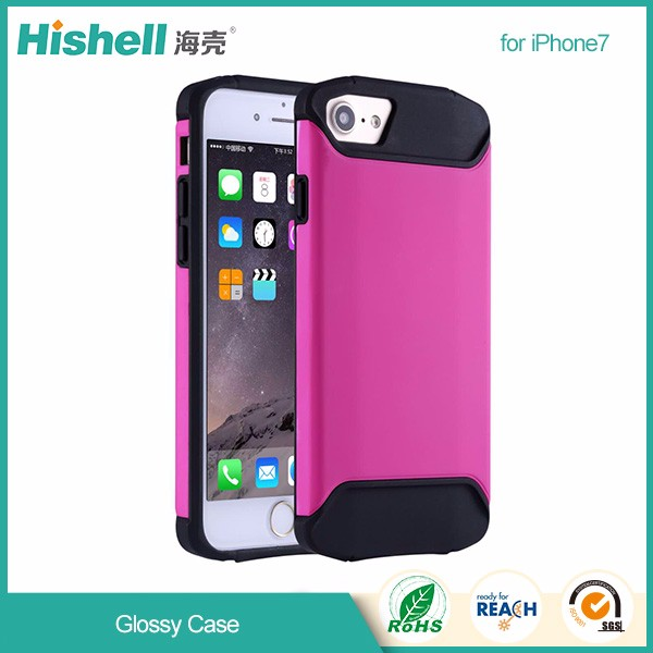 Best Price Ultra Thin tpu and pc glossy cell Phone Case for iPhone7