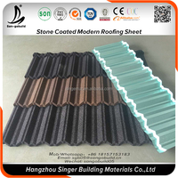 Quality 100g/m2 Aluminum Zinc Contents Galvanized Stone Granules Coated steel roof price of gi sheet in the philippines