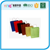 new products 2016 shopping kraft paper bag with twisted paper handle