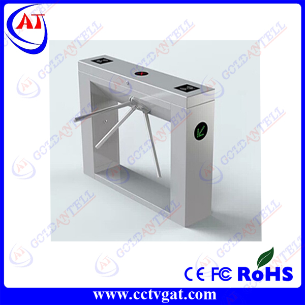 304 stainless steel CE approved waist high automatic bi - directional tripod turnstile gate security barrier RFID interface