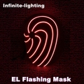 Hot sale flashing El wire masks Led glowing beauty Christmas full face mask for birthday party