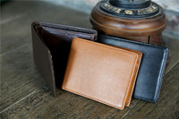 China Suppliers Wholesale Black Men Genuine Leather Wallet 2017