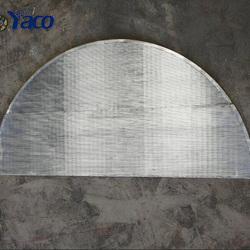 semicircle stainless steel V shaped wedge wire mesh screen panel