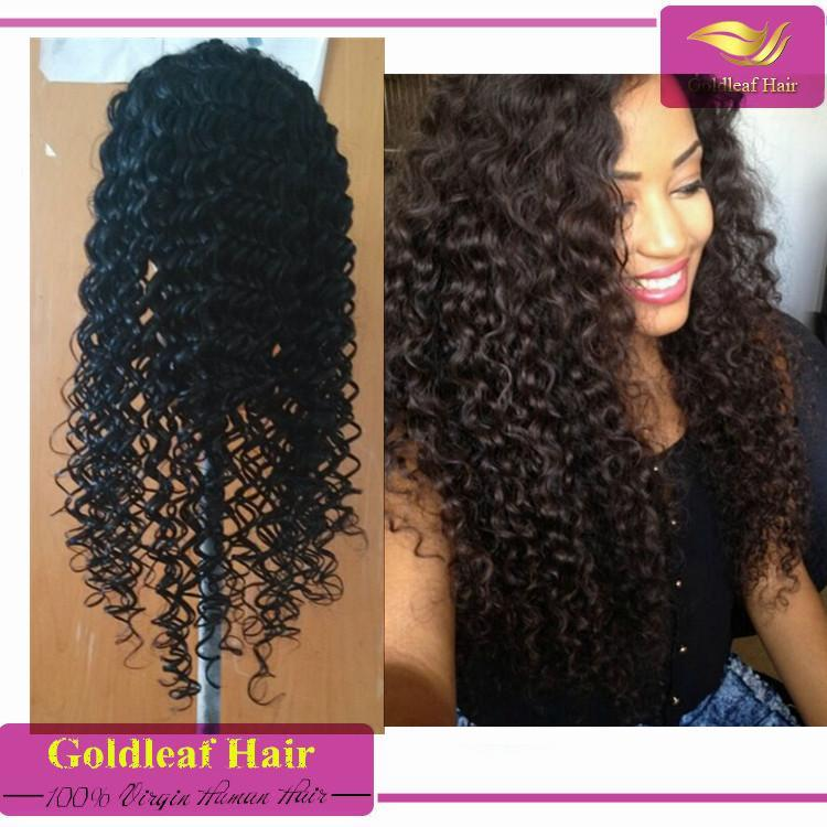 Can Be Restyled Can Be Dyed Thick Stretch Cap Human Hair Wigs