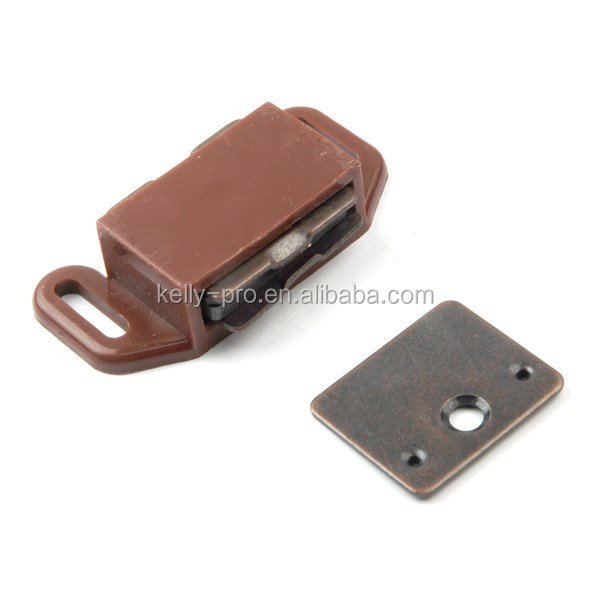 magnetic cabinet cupboard door catches plastic shell wardrobe magnet lock latch kitchen cabinet catch closures magnetic
