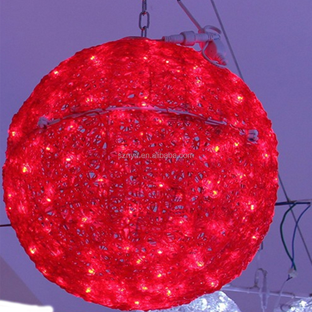 Outdoor christmas led light ball outdoor christmas lighted for Led outdoor christmas ornaments