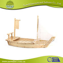 China hot sale disposable sushi wooden boat With LFGB