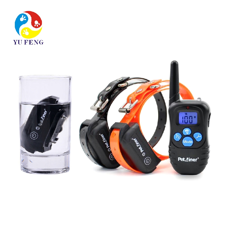 2017 best remote controlled vibration and shock electric pet dog training collars