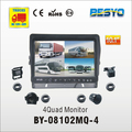 Vehicle reversing 4 quad reversing monitor BY-C08102MQ-4