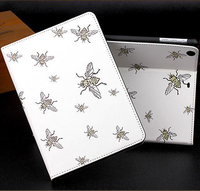 Honey bee pattern 2 folds leather tablet case for iPad mini 2