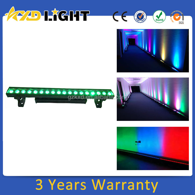 Alibaba Best Sellers 18x 10Watt RGBW 4IN1 IP65 Waterproof Outdoor Color Changing Light Bar Wall Washer Led Stage Light