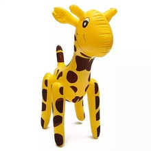 plastic giraffe model toy inflatable kid toy