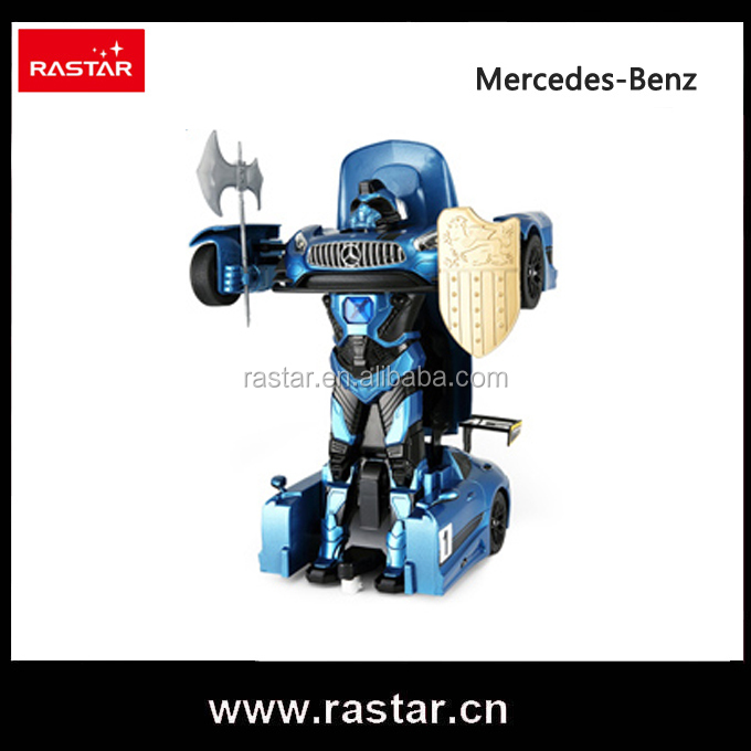 Rastar kids toys transforming robot 1:14 scale plastic electric rc car with lights