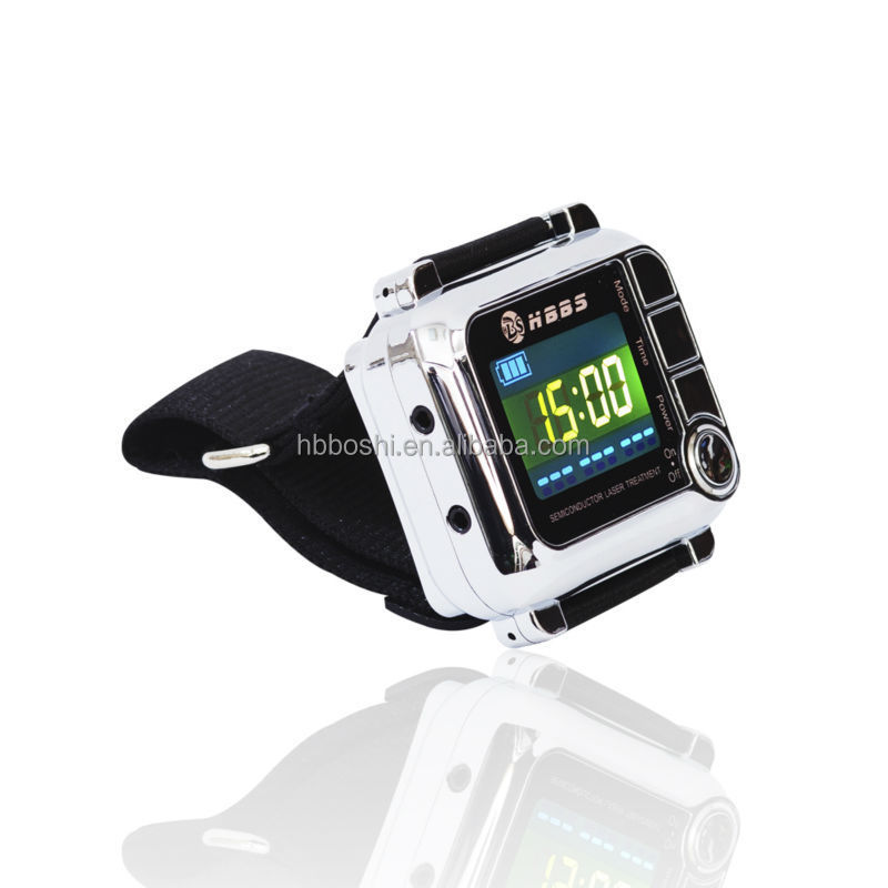 beautiful small size design 650nm wrist type laser device for stroke