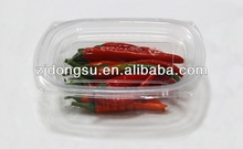 Clear disposable plastic food container, factory-made vegetable container, disposable food-safety box