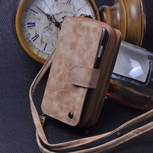 Leather Case for Samsung Galaxy S5 S6 S7 edge Wallet Phone Case for Men Women