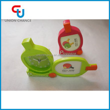 Table Tennis/Ping Pang Shaped Alarm Clock With Photo Frame