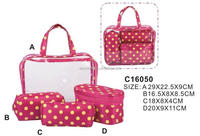 Makeup Travel Toiletry Promotional Fashion Cosmetic Bags Set