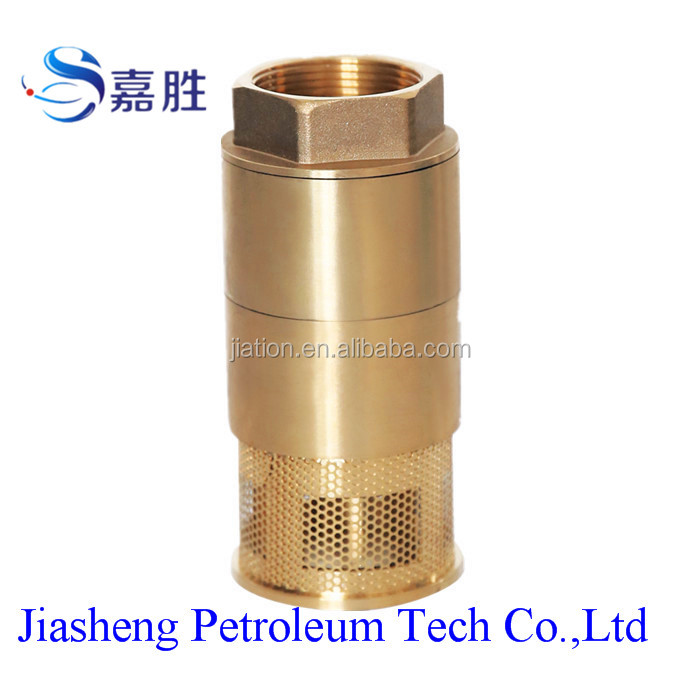 Double Poppet Brass Foot Valve for Fuel Dispenser