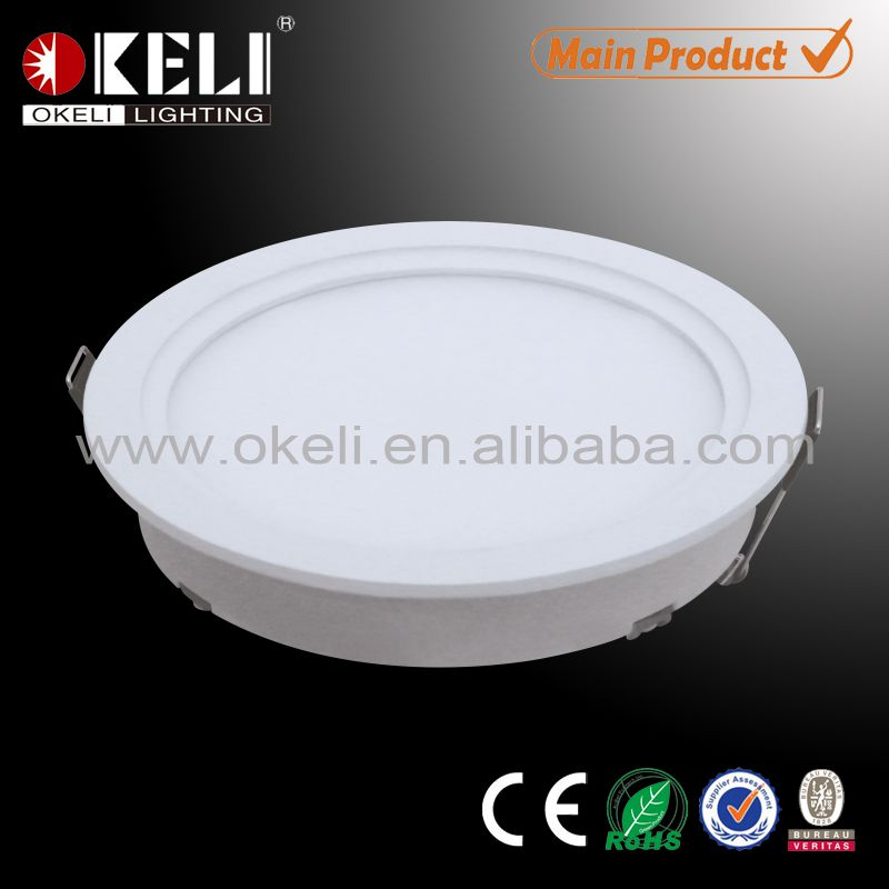 Anti-glare ceiling recessed round led panel light