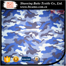 Blue navy factory price poly cotton camo fabric