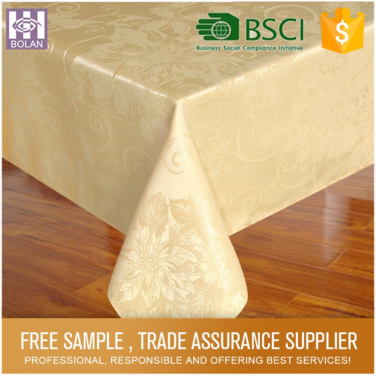 China supply water and oil proofing party table cloth