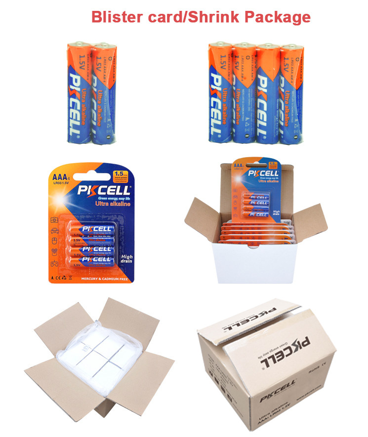 Free Sample CE RoHs 1.5v aaa am4 lr03 alkaline battery for Remote Control,Toys,Camera