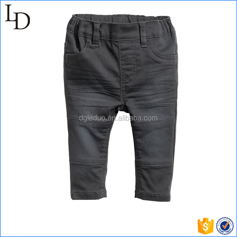 Washed hot sell kids denim pants boys/toddler jeans 2017
