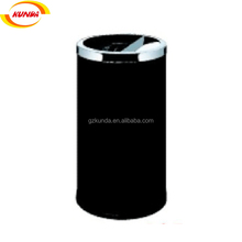GPX-165 stainless steel half opening trash can high quality HK style dustbin office waste bin garbage can