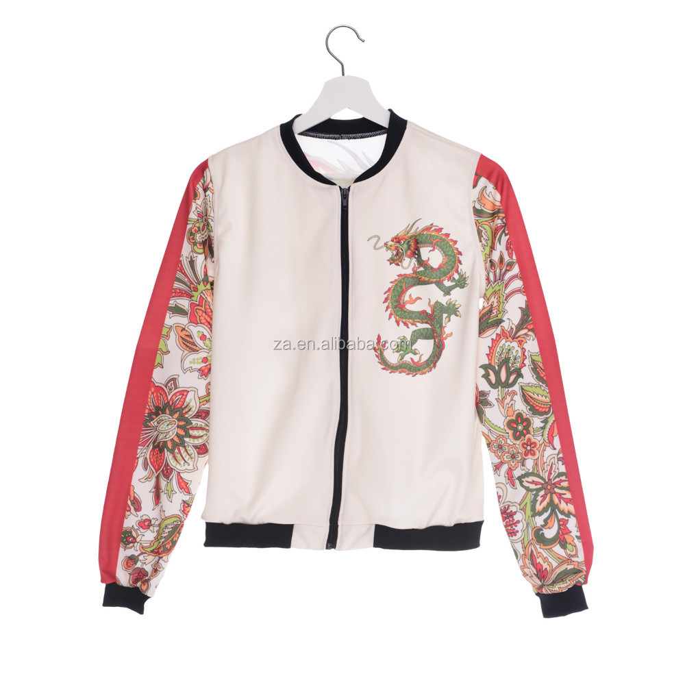 high quality custom plain bomber jacket women