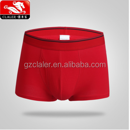 cheapest mens red color cotton material boxer briefs men's underwear wholesale