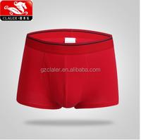 cheapest mens red color cotton material boxer briefs men's underwear wholesale
