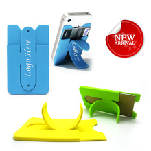 Card holder self adhesive smart silicone cell phone accessory