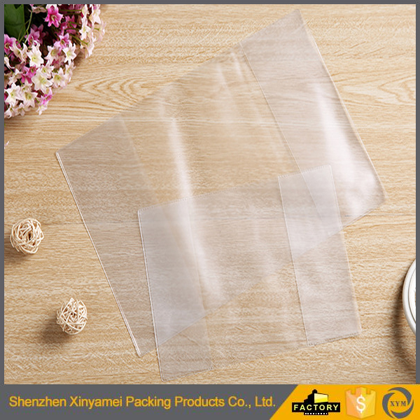 self adhesive pvc a6 a4 a3 transparent plastic book cover Different Thickness Transparent PP Book Cover/exercise book covers